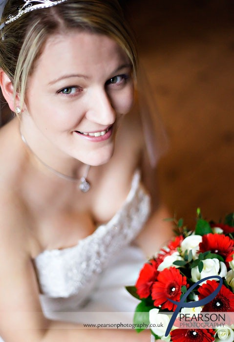 Bride Poses by Window Light