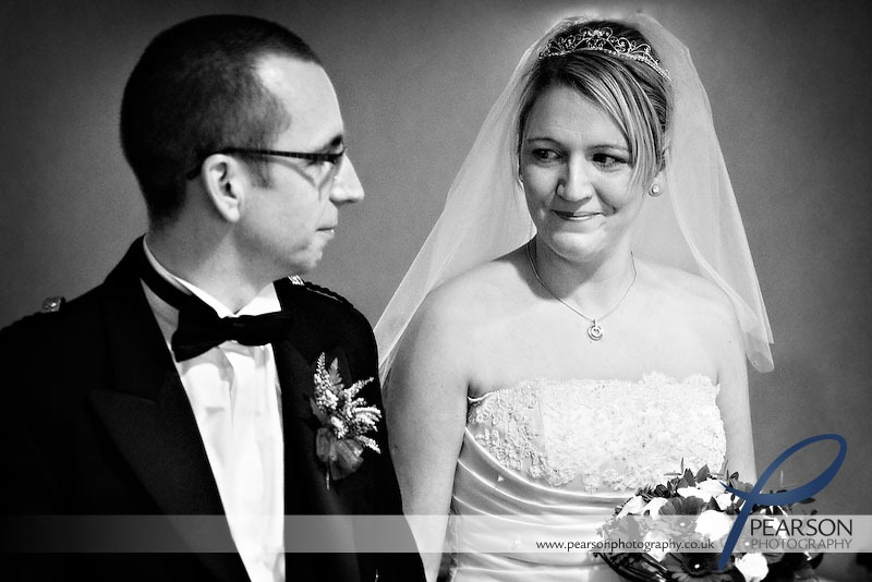Bride and Groom Share an Emotional Moment